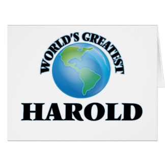 World's Greatest Harold Greeting Cards