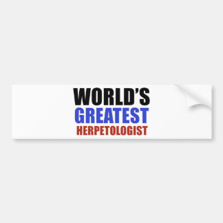 World's greatest herpetologist bumper stickers