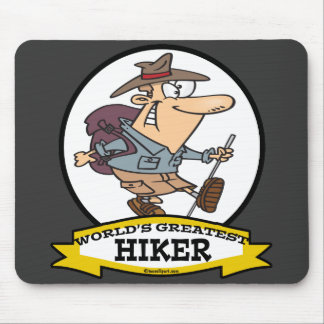 WORLDS GREATEST HIKER MEN CARTOON MOUSE PAD