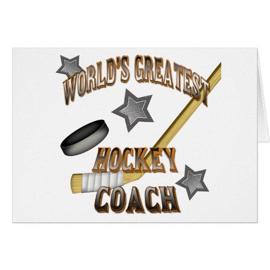 World's Greatest Hockey Coach Card
