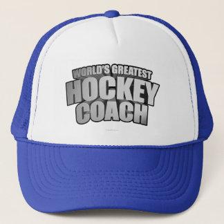 Worlds Greatest Hockey Coach Trucker Hat