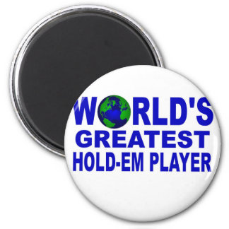 World's Greatest Hold-Em Player 6 Cm Round Magnet