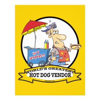 WORLDS GREATEST HOT DOG VENDOR MEN CARTOON 21.5 CM X 28 CM FLYER