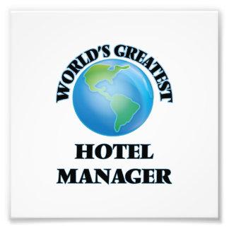 World's Greatest Hotel Manager Photo Art