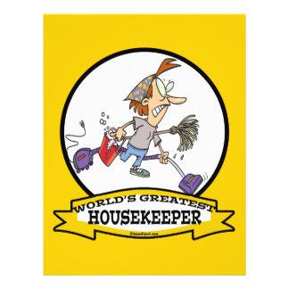 WORLDS GREATEST HOUSEKEEPER WOMEN CARTOON 21.5 CM X 28 CM FLYER