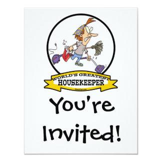 WORLDS GREATEST HOUSEKEEPER WOMEN CARTOON INVITE