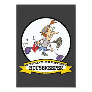 WORLDS GREATEST HOUSEKEEPER WOMEN CARTOON CUSTOM ANNOUNCEMENT