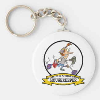 WORLDS GREATEST HOUSEKEEPER WOMEN CARTOON KEY RING
