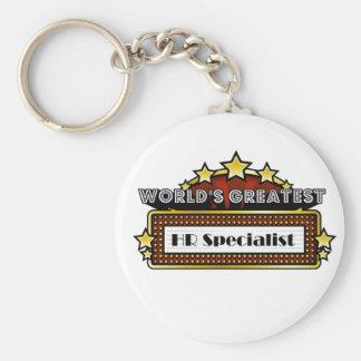 World's Greatest HR Specialist Keychain