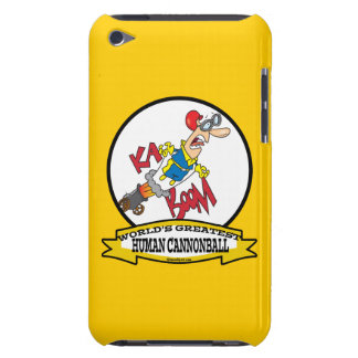 WORLDS GREATEST HUMAN CANNONBALL MEN CARTOON BARELY THERE iPod COVER