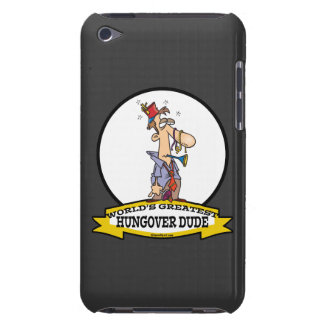 WORLDS GREATEST HUNGOVER DUDE CARTOON Case-Mate iPod TOUCH CASE