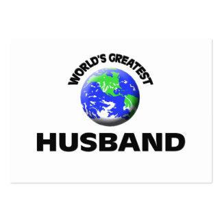 World's Greatest Husband Business Card Template
