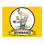 WORLDS GREATEST HUSBAND MEN CARTOON POST CARDS