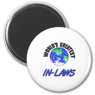 World's Greatest In-Laws 6 Cm Round Magnet