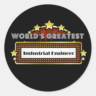 World's Greatest Industrial Engineer Round Sticker