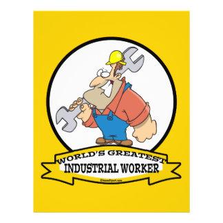 WORLDS GREATEST INDUSTRIAL WORKER MEN CARTOON 21.5 CM X 28 CM FLYER