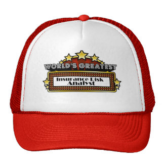 World's Greatest Insurance Risk Analyst Hat