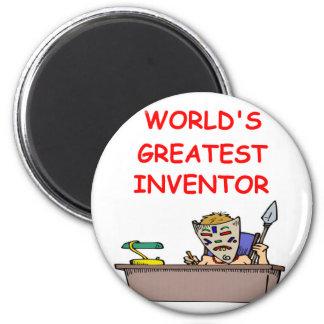 world's greatest inventor 6 cm round magnet