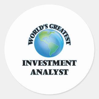 World's Greatest Investment Analyst Sticker
