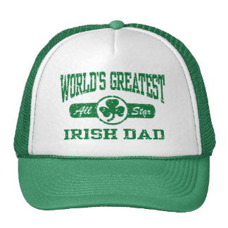 World's Greatest Irish Dad Trucker Hats