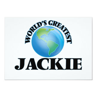World's Greatest Jackie Personalized Invites