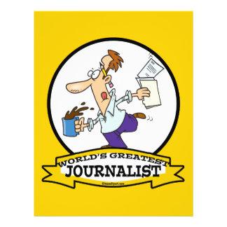 WORLDS GREATEST JOURNALIST II MEN CARTOON 21.5 CM X 28 CM FLYER