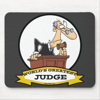 WORLDS GREATEST JUDGE MEN CARTOON MOUSE MAT