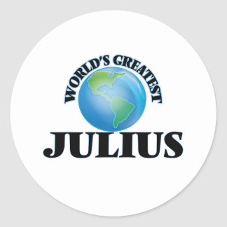 World's Greatest Julius Round Sticker