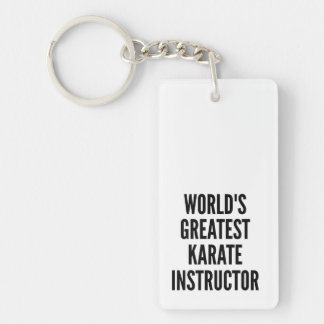 Worlds Greatest Karate Instructor Double-Sided Rectangular Acrylic Key Ring