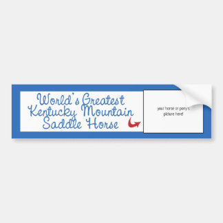 Worlds Greatest Kentucky Mountain Saddle Horse Bumper Sticker