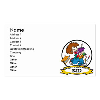 WORLDS GREATEST KID CARTOON BUSINESS CARDS