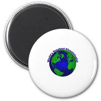 World's Greatest Kinesiologist 6 Cm Round Magnet