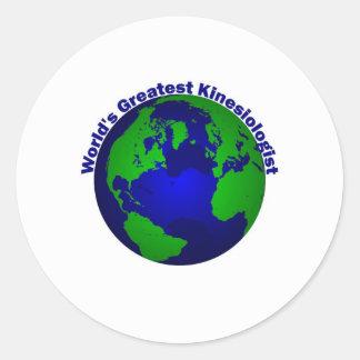 World's Greatest Kinesiologist Round Sticker