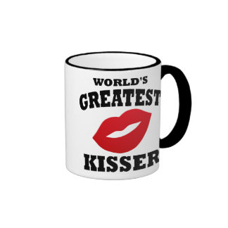World's Greatest Kisser Ringer Mug