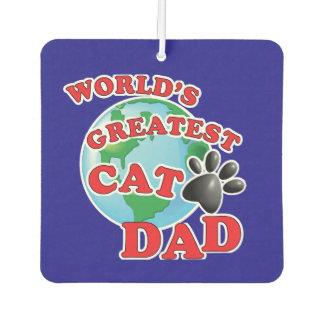 Worlds Greatest Kitty Poppa Car Air Freshener