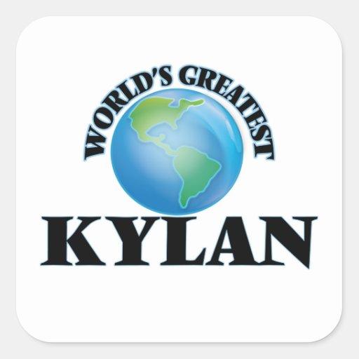 World's Greatest Kylan Square Sticker