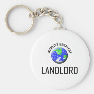 World's Greatest Landlord Basic Round Button Key Ring
