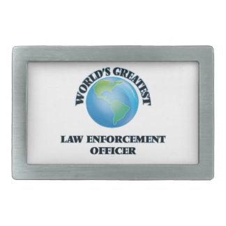 World's Greatest Law Enforcement Officer Rectangular Belt Buckles