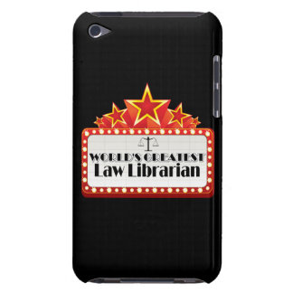 World's Greatest Law Librarian Barely There iPod Case
