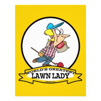 WORLDS GREATEST LAWN LADY CARTOON 21.5 CM X 28 CM FLYER
