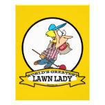 WORLDS GREATEST LAWN LADY CARTOON FLYERS