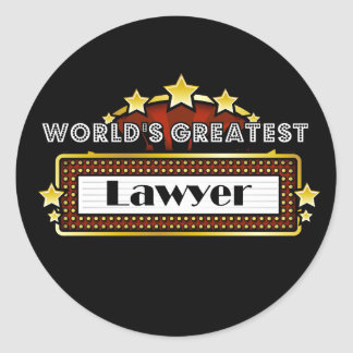 World's Greatest Lawyer Classic Round Sticker