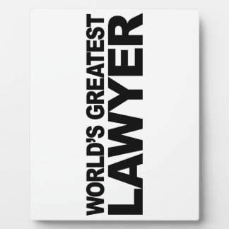 World's Greatest Lawyer Plaque