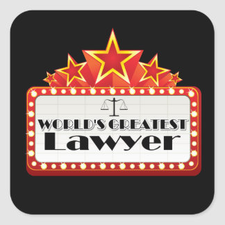 World's Greatest Lawyer Square Sticker