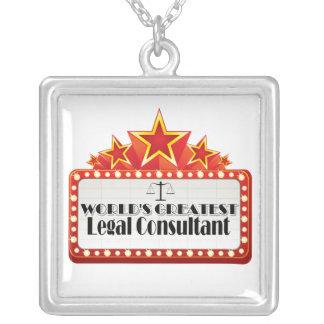 World's Greatest Legal Consultant Square Pendant Necklace