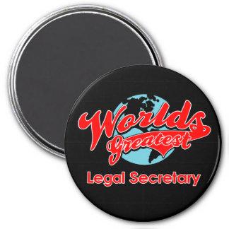 World's Greatest Legal Secretary 7.5 Cm Round Magnet