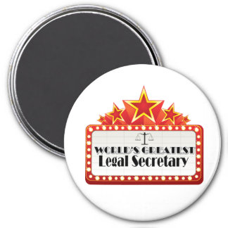 World's Greatest Legal Secretary 7.5 Cm Round Magnet