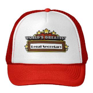 World's Greatest Legal Secretary Hats