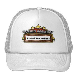 World's Greatest Legal Secretary Hat