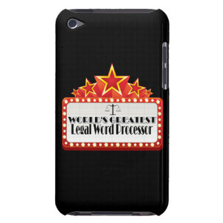 World's Greatest Legal Word Processor Barely There iPod Covers